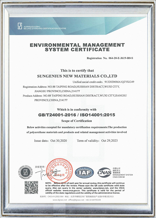 ISO14001:2015 environmental management system certification